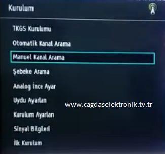 Vestel Manuel Kurulum Menü